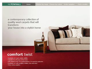 Screenshot of Pownall Carpets