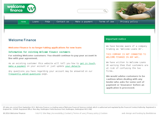 Screenshot of Welcome Finance