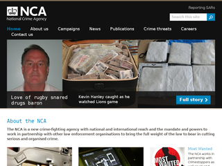 Screenshot of National Crime Agency