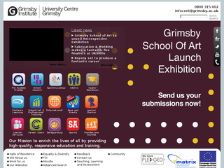 Screenshot of Grimsby Institute of Further and Higher Education