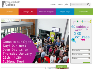 Screenshot of Chesterfield College