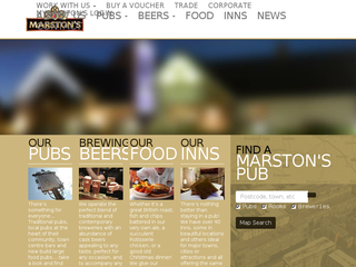 Screenshot of Marstons PLC