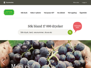 Screenshot of Systembolaget