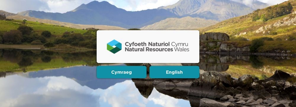 Screenshot of Natural Resources Wales Homepage