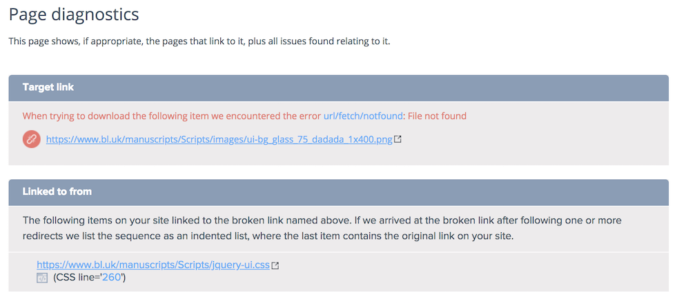Sitemorse | Tech Update - 404 status 'File not found'