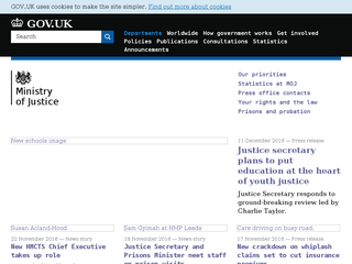 Ministry of Justice (MoJ) screenshot