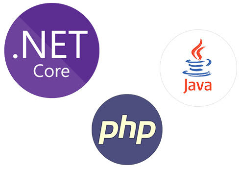 Java, PHP and .Net